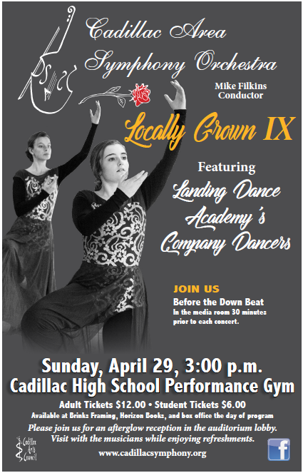 Spring Concert 2018 - Locally Grown IX - Cadillac Symphony Orchestra